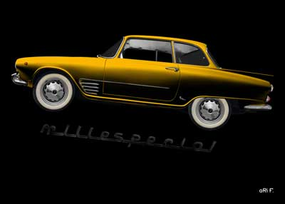 Auto Union 1000 SE millespecial in yellow edition