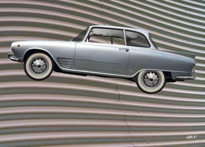 Auto Union 1000 SE millespecial Poster in silver edition