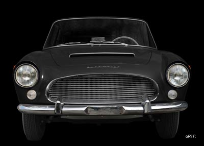 Auto Union 1000 SE millespecial Poster in schwarz front view