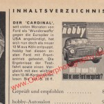 Ford 12 M Test in Hobby 1960er Jahre