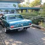 Es darf auch mal das schöne Heck vom Ford Mustang gezeigt werden bei der Einfahrt zur 4. Kressbronn Classics 2017