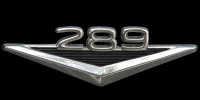 Logo Ford Mustang 289 1964-1965