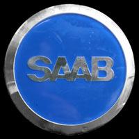 Logo Saab 96 oben auf D-Säule