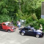 VW Käfer und Ford Pick up V8 bei der Einfahrt zur Kressbronn Classics 2018