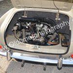VW Karmann Ghia Typ 14 Motorraum mit 34, 45 und 54 PS ausgestattet