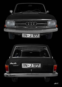 Audi F103 Variant in black double view
