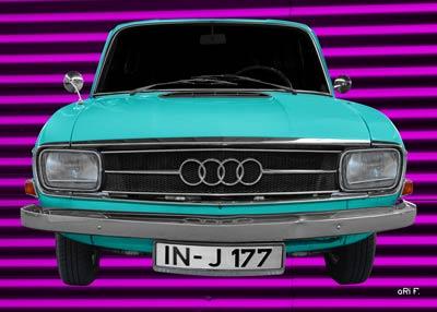 Audi F103 in cyan & lila