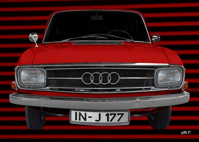 Audi F103 in red front view Poster