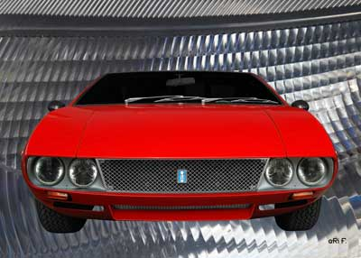 De Tomaso Mangusta Poster in original color