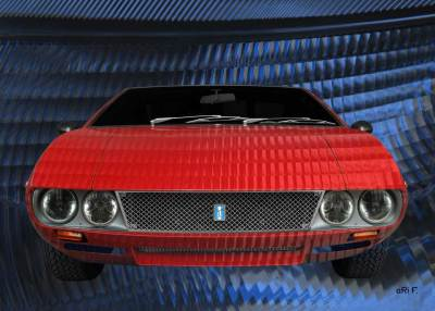 De Tomaso Mangusta in experimental red