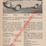 Original BMW 700 Datenblatt - BMW Werbung aus Auto Katalog von 1962