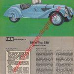 Original BMW Typ 328 Datenblatt - Sammelblatt - BMW Werbung aus hobby Zeitschrift von 1963