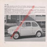 Original Fiat 500 Datenblatt - Fiat Werbung aus Auto Modelle Katalog von 1959