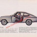 Original Glas 1300 GT Coupe Datenblatt - Hans Glas Werbung aus Auto Modelle Katalog von 1965