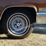 1970 Cadillac DeVille Convertible Bereifung mit Logo Cadillac auf Felge
