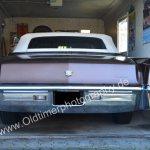 1970 Cadillac DeVille Convertible Heckansicht mit geschlossener Persenning
