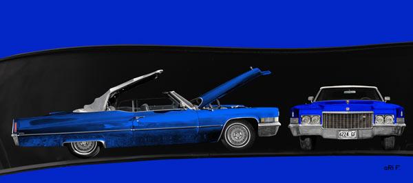 1970 Cadillac DeVille Convertible blue & blue double