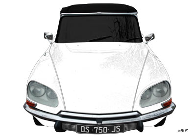 Citroen DS Pallas in white & white