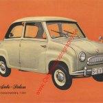 Goggomobil T 250 Datenblatt - Sammelblatt 1965 Seite 1