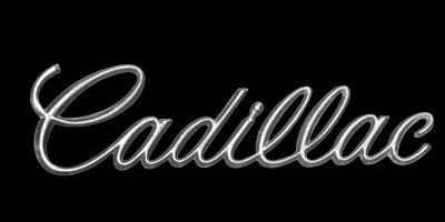 Logo Cadillac DeVille mit Baujahr 1970