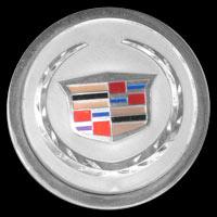 Logo Cadillac DeVille von 1970 auf Felgenbefestigung-Abdeckappe