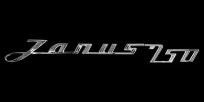 Logo Zündapp Janus 250 seitlich angebracht