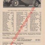 MG Midget TF Datenblatt Advertising Werbung von 1954