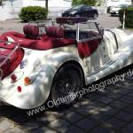 Morgan Plus 8 in white side view