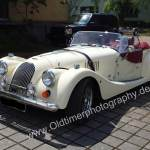Morgan Plus 8 in white color front view