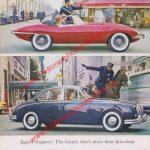 Original Jaguar XK E Werbung - englische Jaguar Werbung aus 60er Jahre
