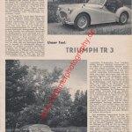 Triumph TR3 Test und technische Daten aus AMS Heft 14-1956 Seite 15