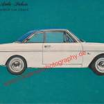 Ford Taunus 12 M TS Coupe Datenblatt - Ford Advertsing / Werbung in hobby Zeitung 1964 Seite 1
