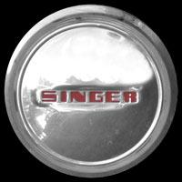 Logo Singer auf Radkappe (1939)