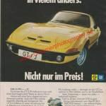 Opel GT - Reklame Werbeanzeige Original-Werbung in Auto Motor und Sport 7/1972