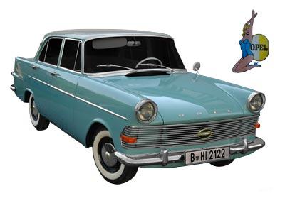 Opel Rekord P2 Poster (Originalfarbe)