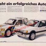 Peugeot 205 Auto Motor & Sport Werbung Advertising Ausgabe 10/1987 Seite 1-2