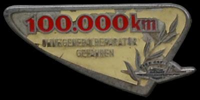 Plakette 100.000 km ohne Generalreparatur gefahren