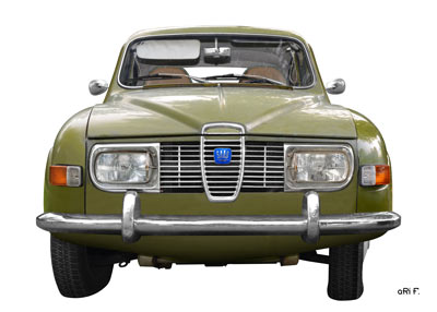 Saab 96 in white & green (Orignalfarbe)