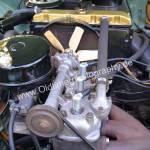 Wartburg 312 Motorraum mit Sicht auf Lüfterad und Kühler