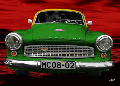 Wartburg 312 Psoter in green & red
