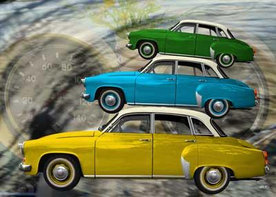 Wartburg 312 Poster trio with Interieur