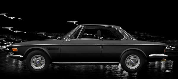 BMW 3.0 E9 in black side view