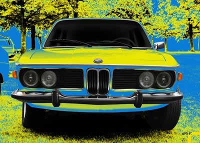 BMW 3.0 E9 in Neon Colors