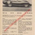 Lister Jaguar technisches Datenblatt von 1959