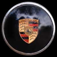 Logo Porsche auf Lenkrad von 356 A 1500 Super