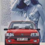 Peugeot 205 Publicité Werbung in Auto Motor & Sport von 10/1991
