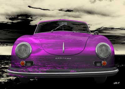 Porsche 356 A 1500 Super in pink