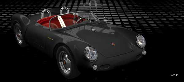 Porsche 550 Spyder in black & black
