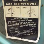 1959 Cadillac Serie 62 Jack Instructions