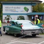 1959 Cadillac Serie 62 bei der Einfahrt zum Oldtimertreffen am Bodensee